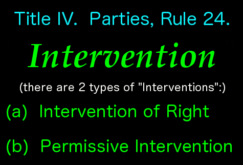 2 types of intervention
