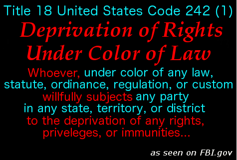 Deprivation of Rights Under Color of Law 1