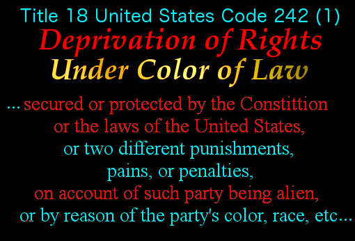 Deprivation of Rights Under Color of Law 2