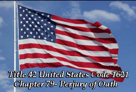 Perjury of Oath flag