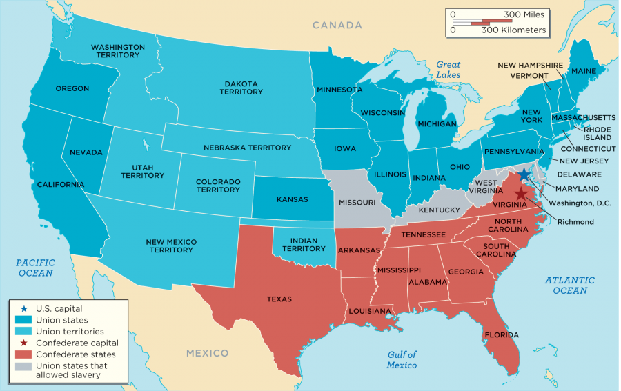 Map of Confederacy